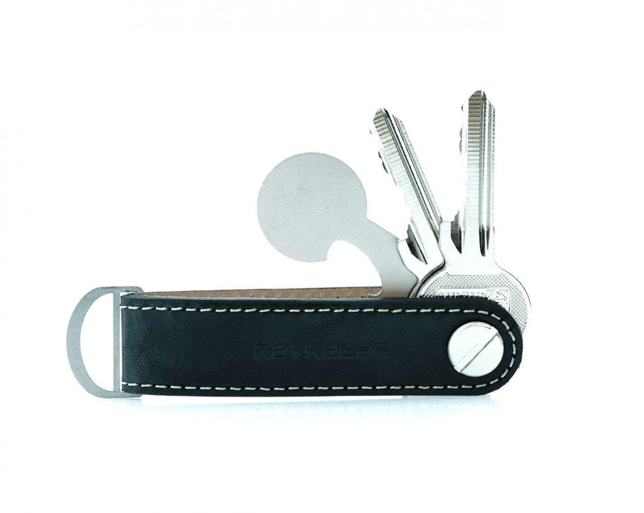 _ Keykeepa Schlüsselorganizer Leder Loop - Phantom Black