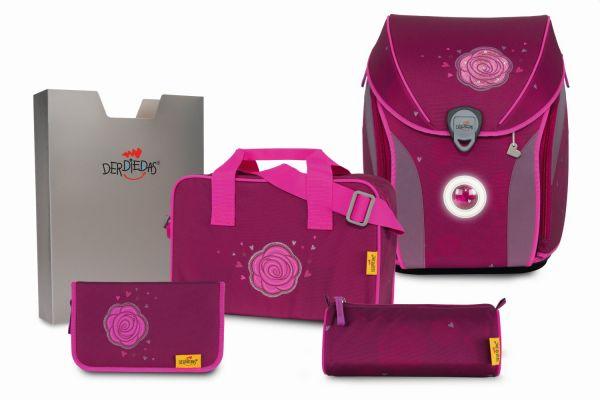 DerDieDas ERGOFLEX MAX LED Set 5-tlg. glitter rose